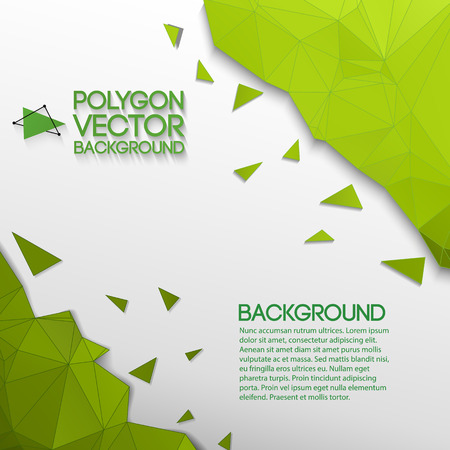 Abstract Geometric Green And White Background. Illustration