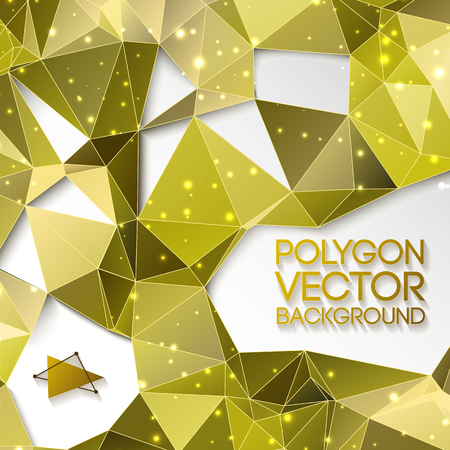 Abstract Gold Triangle Vector Background. Illustration