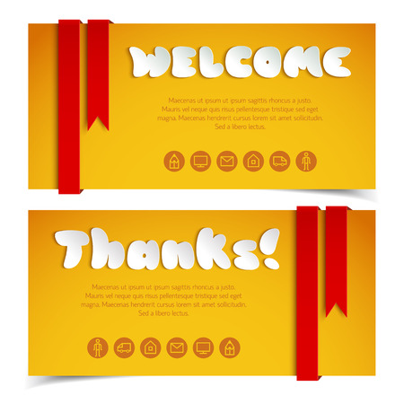 Welcome And Thanks Greeting Cards.