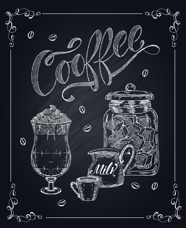 Coffee Hand Drawn Illustration Çizim