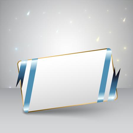 Blue Ribbon Greeting Card Çizim