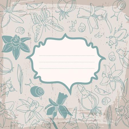 Soft Color Flowers Background Çizim