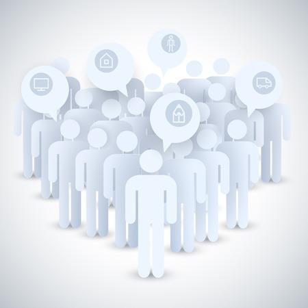 Flat Business Concept Ilustração
