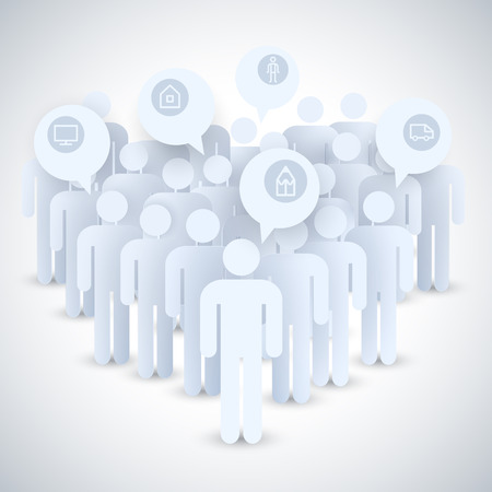 Flat Business Concept Ilustrace