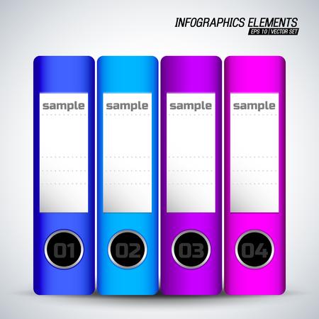 Document Folders Infographics Elements Иллюстрация