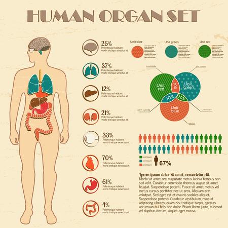 의학 infographic 세트 일러스트