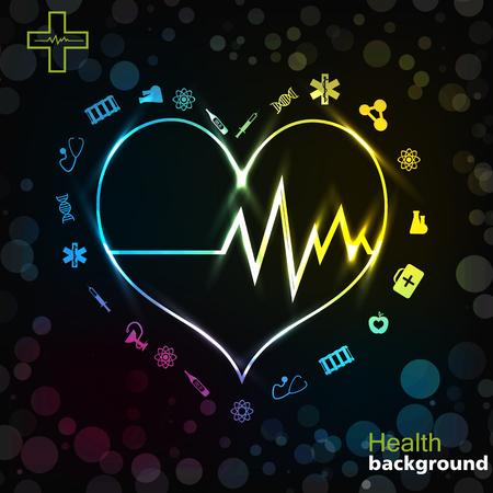 Fondo negro de oro de la medicina