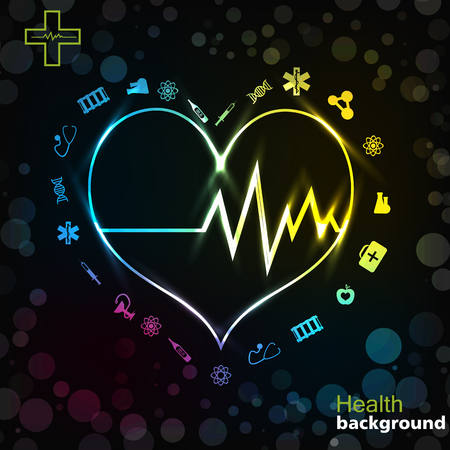 Medicine Black Golden Background Ilustracja