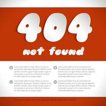 Page Not Found Error 404 On Red Background