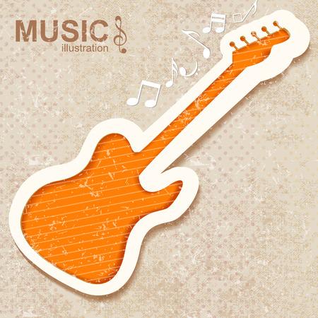 Kleurrijke muziek achtergrond. Vector illustratie.