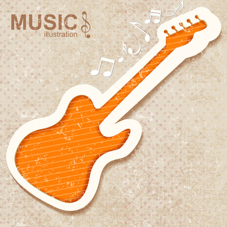 Colorful Music Background. Vector illustration.