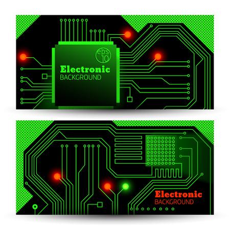 Elektrische Brett Banner Set Standard-Bild - 83254665