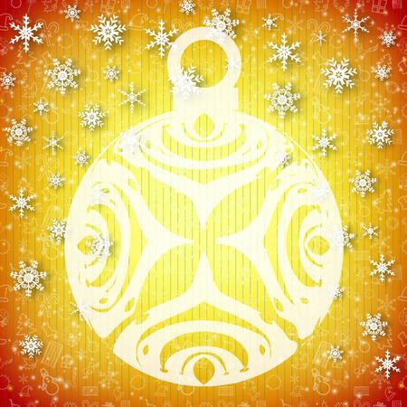 Festive Christmas Template Illustration