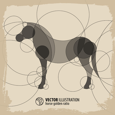 Abstract Horse Background. Vector illustration. Çizim