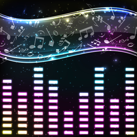 Colorful Music Eq Background