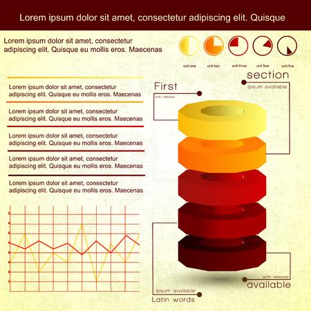 Vintage Infographics Set Çizim