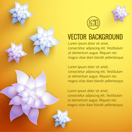 Flower Decorations Background
