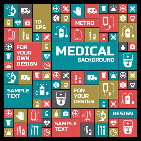 Medical Colored Symbols Background