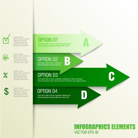Elementos del concepto de negocio Ilustración de vector