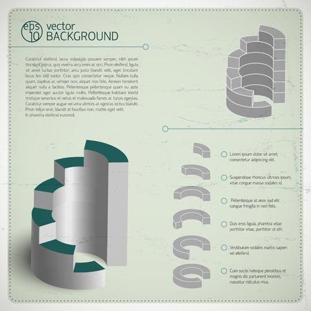 銀製の図表の構成