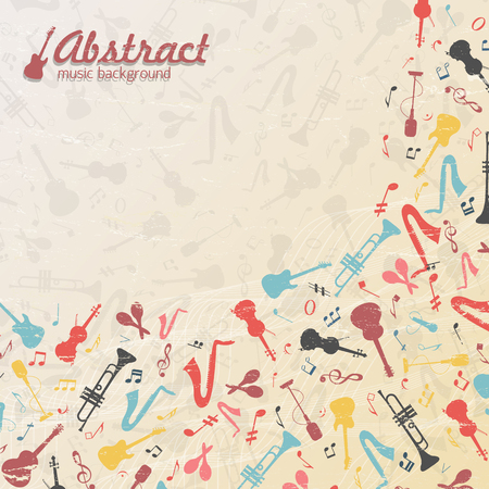 Colored Abstract Music Background Illustration
