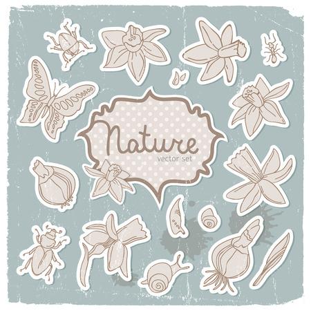Romantische lente narcissen achtergrond Stock Illustratie