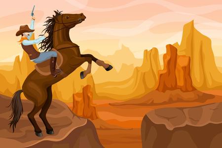 Western Scenery Background