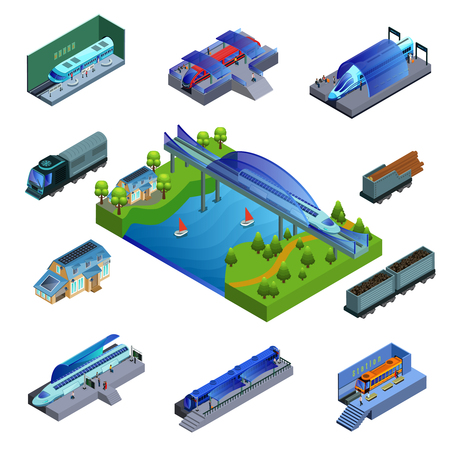Isometric Modern Trains Concept
