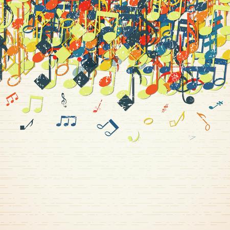 Musical Theme Background 向量圖像