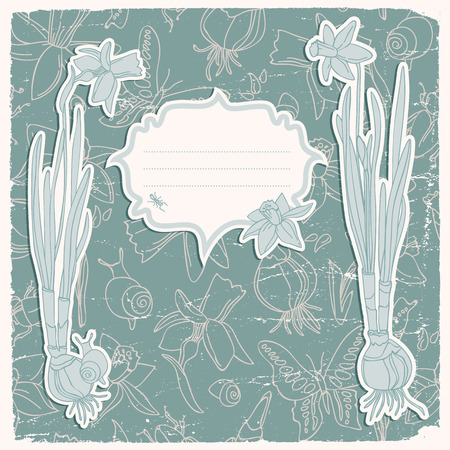 Daffodils Flowers Background Illustration