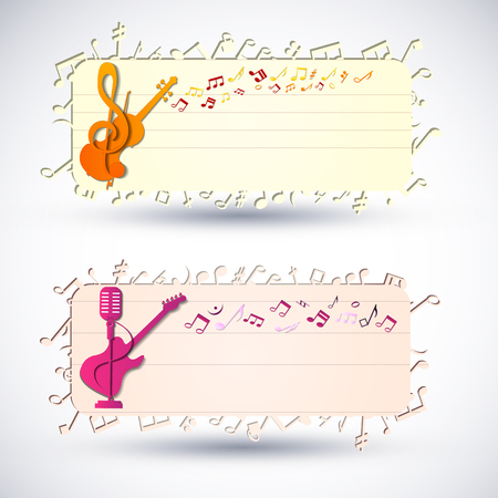 Two Colorful Music Banner Set