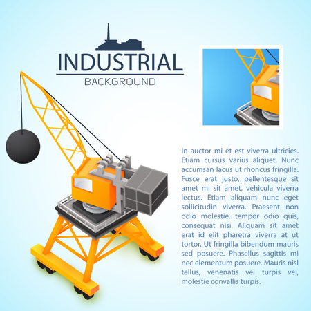Construction Machinery Industrial Background