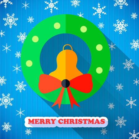 메리 크리스마스 다채로운 포스터 일러스트