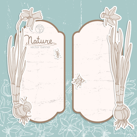 Romantic Spring Flowers Banners Set