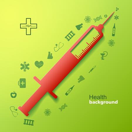 Medical With Big Syringe