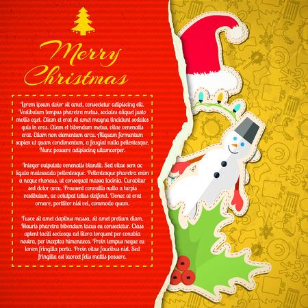 Feliz Navidad Tarjeta de felicitación Foto de archivo - 83874728