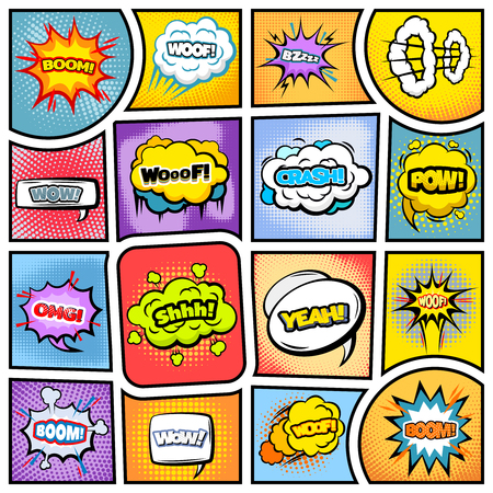 Colorful Comic Book Background