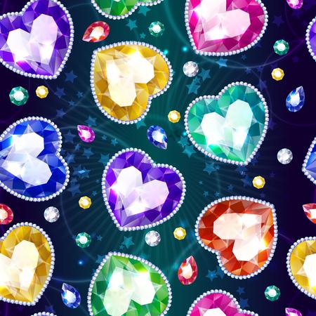 Dibujos animados hermosa joyería de patrones sin fisuras Foto de archivo - 84122857
