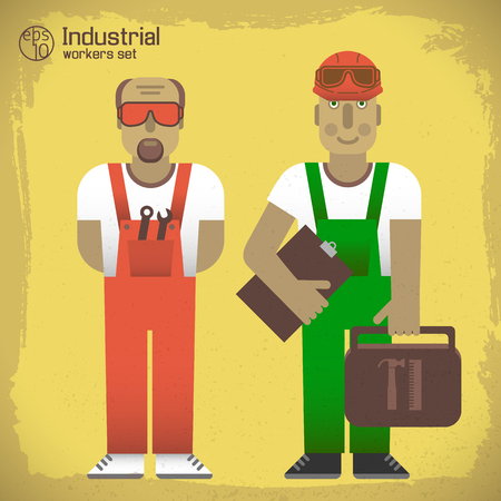 Industrial Workers Concept Ilustracja