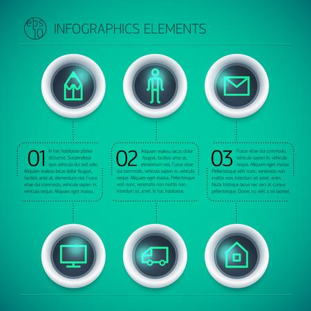 Business Infographic Design Template Çizim