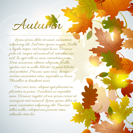 Floral Autumn Template