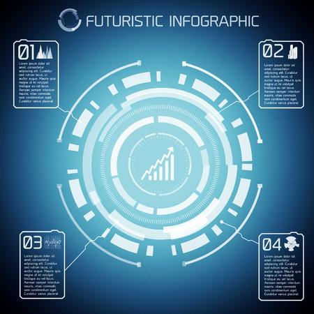 Modern Virtual Technology Infographics Çizim