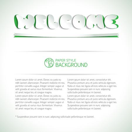 Welcome Headline On Background Stock Vector - 84129120