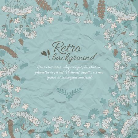 Retro Flowery Decorative Background 向量圖像