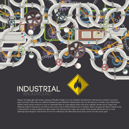 Industrial Pipe System Background