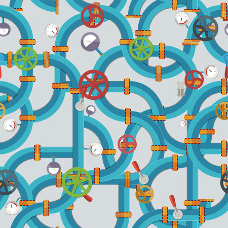 Industrial Technologic Seamless Pattern vector illustration.