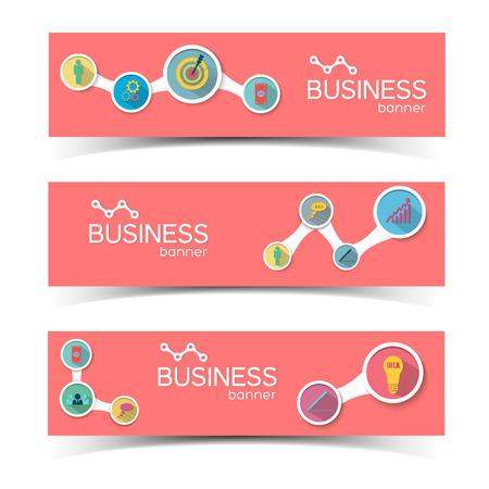 Bannières horizontales informatives d'affaires Banque d'images - 84068420