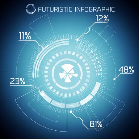 Digital Futuristic Infographic Concept