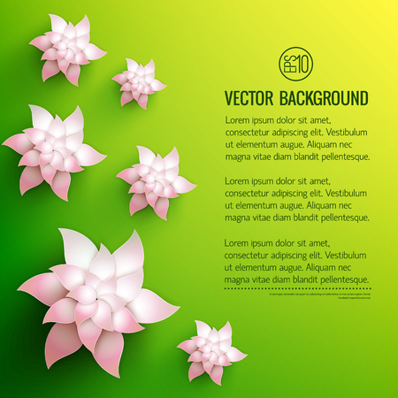 Decorative Flowers Background vector illustration.
