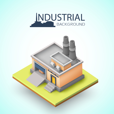 Industrial Building Background vector illustration.